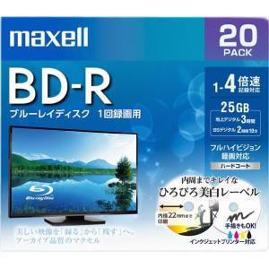 マクセル 録画用25GB 1-4倍速対応 BD-R追記型 ブルーレイディスク 20枚入り BRV25WPE.20S [BRV25WPE20S]