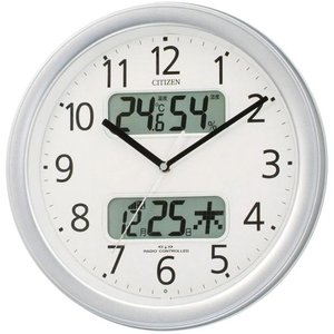 リズム時計 電波掛時計 シルバーメタリック色(白) 4FYA01-019 [4FYA01019]