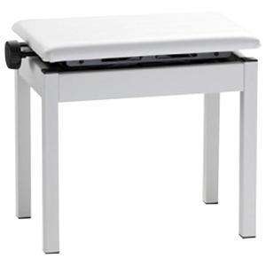 ホワイトの高低自在椅子