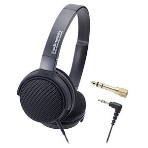 オーディオテクニカ オープンエアーヘッドバンド型ヘッドフォン ATH-EP300BK [ATHEP3...