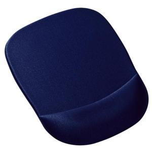手首を優しく守る、低反発ウレタンリストレスト付きマウスパッド。