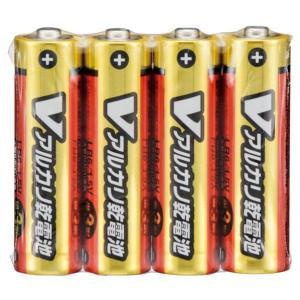 Vアルカリ乾電池 単3形 4本パック。