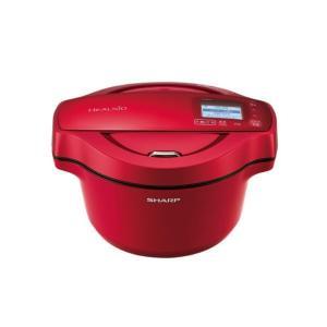 シャープ 水なし自動調理鍋 レッド KNHW16ER [KNHW16ER]|edioncom