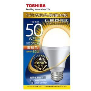 東芝 LED電球 E26口金 全光束640lm(8.2W一般電球タイプ) 電球色 LDA8L-G-K/D/50W [LDA8LGKD50W]