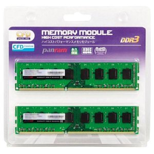 CFD デスクトップ用PCメモリ(4GB×2) W3U1600PS-4G [W3U1600PS4G]