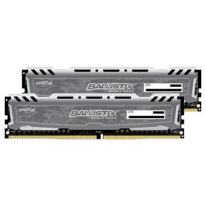 CFD Crucial ゲーミングモデル DDR4-2400 デスクトップPC用メモリ 288pin DIMM Heatsink搭載(16GB×2枚組) グレー W4U2400BMS-16G [W4U2400BMS16G]