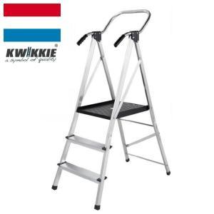 KWIKKIE 手すり付幅広安心作業台(折りたたみ式 大型踏み台)|edosho