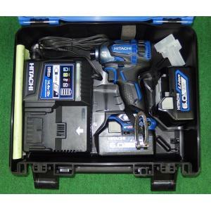 限定青色 日立 18V-6.0Ah防塵耐水BLインパクト WH18DDL2(2LYPK)SB 新品|edougukann