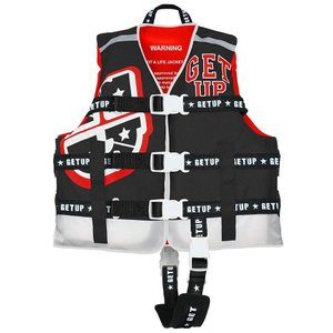 GETUP ゲットアップ LIFE VEST ライフベスト BLACK×WHITE×RED GCL-37100 キッズ・ジュニア|ee-powers