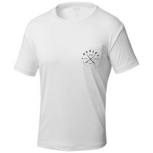 オークリー RASH POCKET TEE 100/WHITE 482395JP-100 ラッシュガード UVケア メンズ|ee-powers