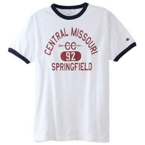 Champion チャンピオン リンガーTシャツ 010/ホワイト C3-M333 メンズ|ee-powers