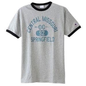 Champion チャンピオン リンガーTシャツ 070/オックスフォードグレー C3-M333 メンズ|ee-powers