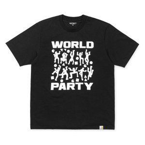 カーハート carhartt S/S WORLD PARTY T-SHIRT BLACK/WHITE I024745 メンズ ee-powers
