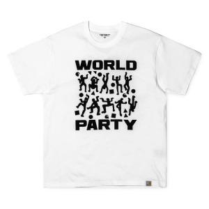 カーハート carhartt S/S WORLD PARTY T-SHIRT WHITE/BLACK I024745 メンズ ee-powers