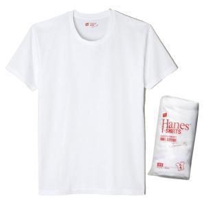 Hanes ヘインズ 2枚組 JAPAN FIT CREW NECK T-SHIRT 010/ホワイト H5110 メンズ|ee-powers