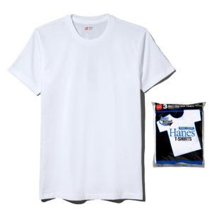 Hanes ヘインズ 3枚組 アオラベル CREW NECK T-SHIRT 010/ホワイト HM2115G メンズ|ee-powers