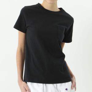 チャンピオン ウィメンズ ポケットTシャツ CW-M321 090(ブラック) レディース Champion POCKET T-SHIRT|ee-powers
