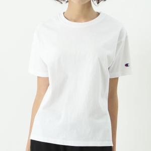 チャンピオン ウィメンズ クルーネックTシャツ CW-M322 010(ホワイト) レディース Champion CREW NECK T-SHIRT|ee-powers