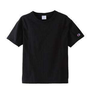 チャンピオン ウィメンズ クルーネックTシャツ CW-M322 090(ブラック) レディース Champion CREW NECK T-SHIRT|ee-powers