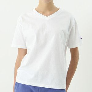 チャンピオン ウィメンズ VネックTシャツ CW-M323 010(ホワイト) レディース Champion V NECK T-SHIRT|ee-powers
