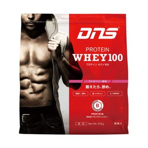 ディーエヌエス DNS プロテインホエイ100/ストロベリー風味 350g スポーツ プロテイン・サプリ|ee-powers