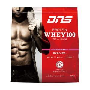 ディーエヌエス DNS プロテインホエイ100/ストロベリー風味 1kg スポーツ プロテイン・サプリ|ee-powers
