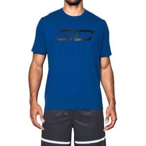 アンダーアーマー SC30 チャージドコットンTシャツ<SC30ロゴ> Royal/Royal/Black(400) 1298356 バスケ ウェア メンズ|ee-powers