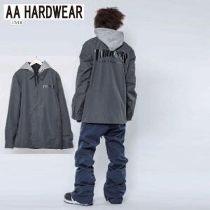 AA HARDWEAR ダブルエー COACH JACKET THRASHER GRAY 721-173-03 スノーボード ウェア メンズ|ee-powers