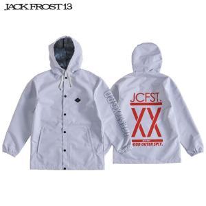 ジャックフロスト ワンスリー フーデッド コーチ ジャケット JFJ91507 100/WHITE スノーボード JACKFROST 13 HOODED COACH JK|ee-powers
