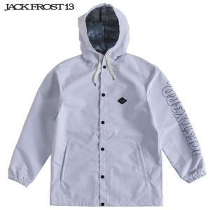 ジャックフロスト ワンスリー フーデッド コーチ ジャケット JFJ91507 100×009/WHITE×BLACK スノーボード JACKFROST 13 HOODED COACH JK|ee-powers