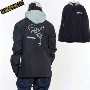 ダブルエー COACH JACKET 721-183-04 GONZ BLACK スノーボード メンズ AA HARDWEAR|ee-powers