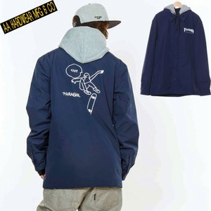 ダブルエー COACH JACKET 721-183-04 GONZ NAVY スノーボード メンズ AA HARDWEAR|ee-powers