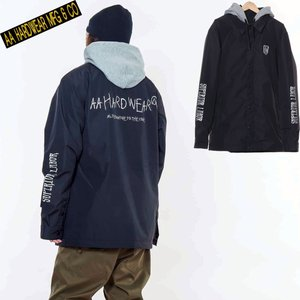 ダブルエー COACH JACKET 721-183-04 TEAM BLACK スノーボード メンズ AA HARDWEAR|ee-powers