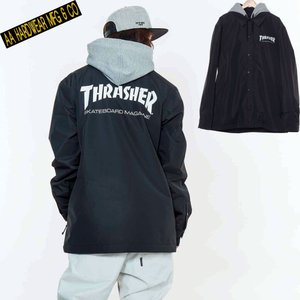 ダブルエー COACH JACKET 721-183-04 THRASHER BLACK スノーボード メンズ AA HARDWEAR|ee-powers
