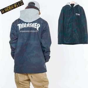 ダブルエー COACH JACKET 721-183-04 THRASHER CAMO スノーボード メンズ AA HARDWEAR|ee-powers