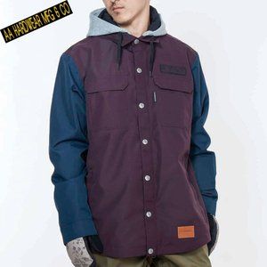 ダブルエー BARLY JACKET 721-183-07 BORDEAUX スノーボード メンズ AA HARDWEAR|ee-powers
