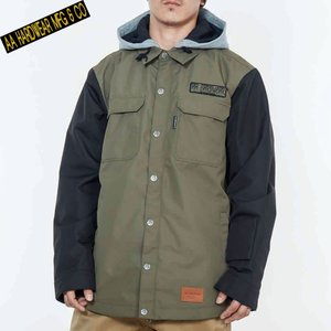 ダブルエー BARLY JACKET 721-183-07 KHAKI スノーボード メンズ AA HARDWEAR|ee-powers