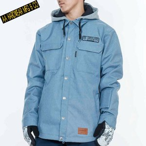 ダブルエー BARLY JACKET 721-183-07 LIGHT BLUE スノーボード メンズ AA HARDWEAR|ee-powers