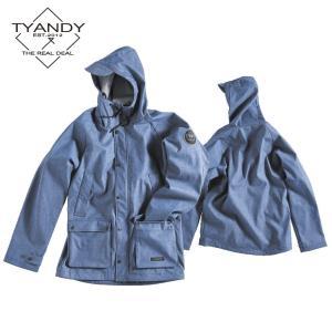ティーアンディー  ボンデッド ハンティング ジャケット TYJ91006D 698D/BLUE DENIM スノーボード TYANDY BONDED HUNTING JACKET|ee-powers