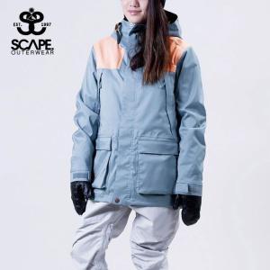 エスケイプ WOMEN'S REVOLVER JACKET 711-183-22 SLATE BLUE/PEACH スノーボード レディース SCAPE|ee-powers