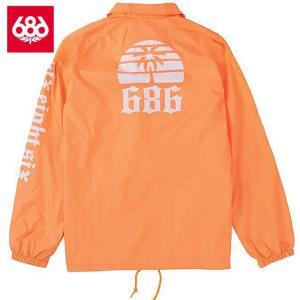 シックスエイトシックス パラダイス コーチジャケット L8WPHS06 Orange スノーボード メンズ 686Paradise Coaches Jacket|ee-powers