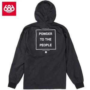 シックスエイトシックス パウダー ジップ コーチジャケット L8WPHS07 Black スノーボード メンズ 686Powder Zip Coaches Jacket|ee-powers