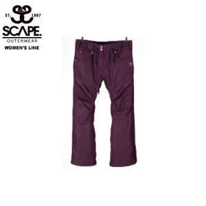 SCAPE エスケイプ CELES PANTS BURGUNDY 711-173-38 スノーボード ウェア レディース|ee-powers