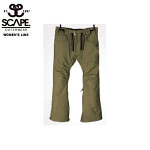 SCAPE エスケイプ CELES PANTS OLIVE 711-173-38 スノーボード ウェア レディース|ee-powers