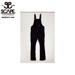 SCAPE エスケイプ WOMEN'S BIB PANTS BLACK 711-173-39 スノーボード ウェア レディース|ee-powers