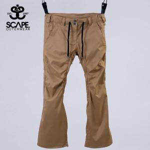 エスケイプ WOMEN'S CELES PANTS 711-183-36 STRETCH BEIGE スノーボード レディース SCAPE|ee-powers