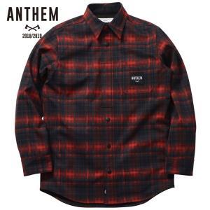 アンセム ボンデッド ワークシャツ AN1811 GRAND RED CHECK スノーボード メンズ ANTHEM BONDED WORK SHIRT ee-powers
