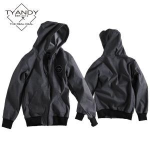 ティーアンディー  ボンデッド デニム フーディー TYJ91008D 009D/BLACK DENIM スノーボード TYANDY BONDED DENIM HOODY|ee-powers