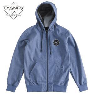 ティーアンディー  ボンデッド デニム フーディー TYJ91008D 698D/BLUE DENIM スノーボード TYANDY BONDED DENIM HOODY|ee-powers