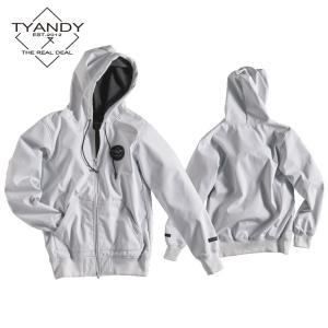 ティーアンディー  ボンデッド スタンダード ジャケット TYJ91008S 100/WHITE スノーボード TYANDY BONDED STANDARD HOODY|ee-powers
